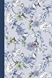 Journal: Hummingbirds and Flowers (Blue) 6x9 - LINED JOURNAL - Journal with lined pages - (Diary, Notebook) (Birds & Buttt...