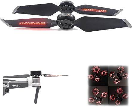 Owoda Mavic 2 H/élices avec Lumi/ère Flash LED CW /& CCW H/élices Rechargeables pour Drone DJI Mavic 2 Pro Zoom Accessoires de Fantaisie
