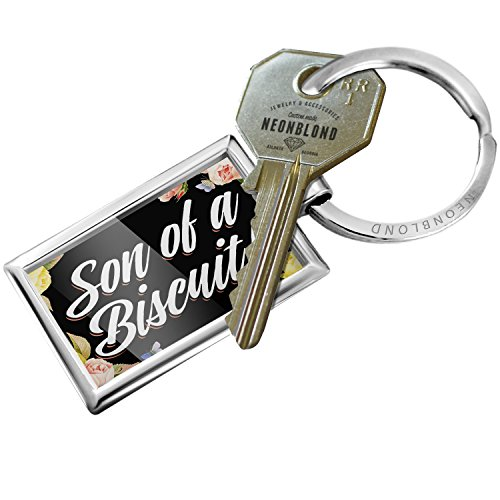 Keychain Floral Border Son of a Biscuit! - - Floral Biscuit