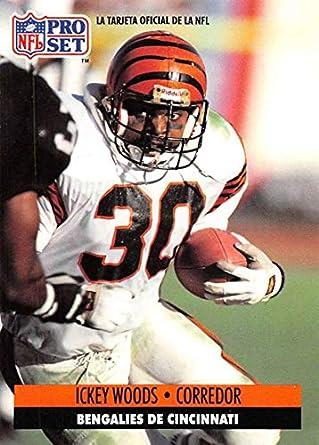 f3826ff5 Amazon.com: 1991 Pro Set Spanish Football #36 Ickey Woods Cincinnati ...