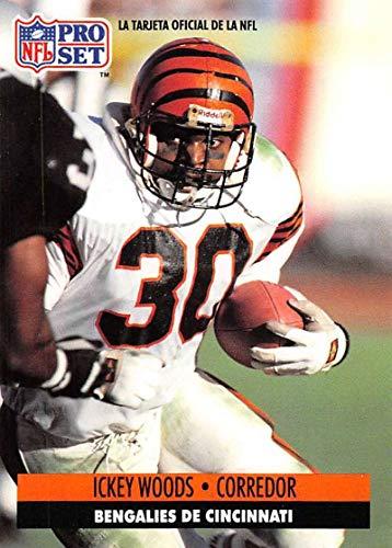 Woods Ickey Bengals Cincinnati - 1991 Pro Set Spanish Football #36 Ickey Woods Cincinnati Bengals