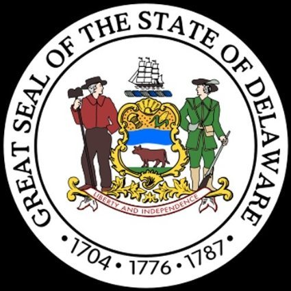 Sticker / Decal - JDM - Die cut - Delaware DE State Seal Bumper Sticker 101mmx101mm