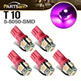 1995 dodge ram 3500 cab lights - Partsam 5x Pink-purple 5-5050-SMD 194 T10 168 W5W LED bulbs for Ford Dodge Chevrolet GMC Cab Roof Running Marker Light Lamp 12V