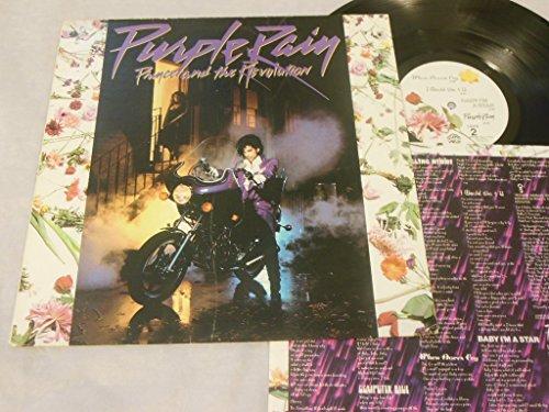 Prince Purple Rain 33 RPM Vinyl Album with Poster