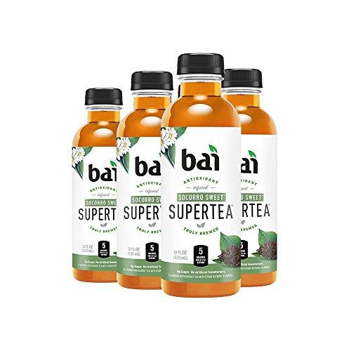 - Bai Iced Tea, Socorro Sweet, Antioxidant Infused Supertea, Crafted with Real Tea (Black Tea, White Tea), 18 Fluid Ounce Bottles, 6 count