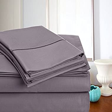 MEGA SALE TODAY! Luxury Sheets On Amazon-Highest Quality! Luxury 800 Thread count 100% Egyptian Cotton Ultra Soft Sheet Set, King - Lilac