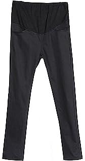 c24c6ec97d486 MTRNTY Women's Maternity High Elastic Waist Comfortable Slim Skinny Plain  Pants