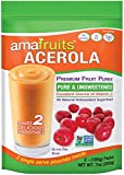 Amafruits 10 Bag Bundle of Acerola Fruit Puree