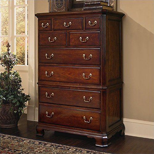 American Drew Cherry Grove 9 Drawer Chest in Antique Cherry Finish Antique Cherry Finish