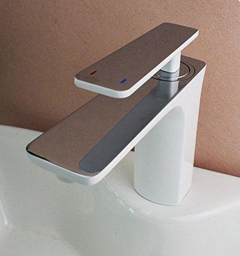 Lavabo grifo baño cobre pintura solo agujero mezclador de de de fregadero b6ecbf
