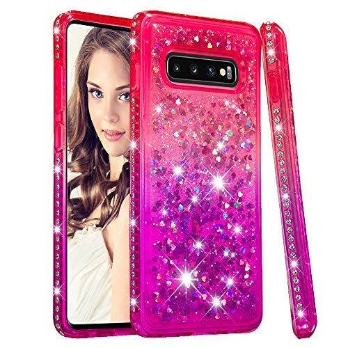 - Galaxy S10 Plus Case,UZER 3D Diamong Gradual Change Series Bling Quicksand Moving Floating Luxury Twinkle Glitter Shining Sparkle Slim Thin TPU Bumper Liquid Case for Samsung Galaxy S10 Plus 6.4