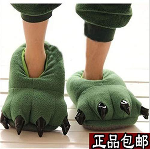 Pata De Zapatillas Oso Green Zapatos Invierno Lhxyx Antideslizantes Casa wEq05qBd
