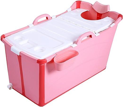 Nuova vasca da bagno per bambini pieghevole in plastica extra large per adulti.-Pink-Bathtub