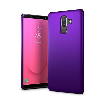 check out 102ba 844aa Amazon.com: SLEO Samsung Galaxy J8 2018 Case - Rubberized Hard PC ...