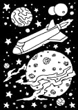Velvet Color-In Poster - Outer Space - 6 x 9 inches