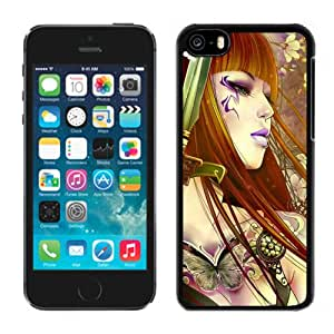 Beautiful And Unique Designed With Girl Hair Flowers Hand Petals Sword For iPhone 5C Phone Case