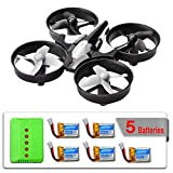 MysteryStone H36 Mini RC Quadcopter Drone with 5 Battery and Charger, Nano...