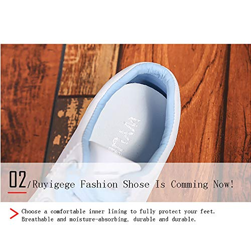 Ricamo Pink Del Casual Blue Student White Four Blue Shoes Seasons Fashion Fondo 37 Flat Sports Versione Pink Donna Coreana Cartoon Cute Scarpe Willsky Spesso Da Ht17qwTR70