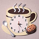 Coffee Cup Latte Cappucino Kitchen Wall Clock