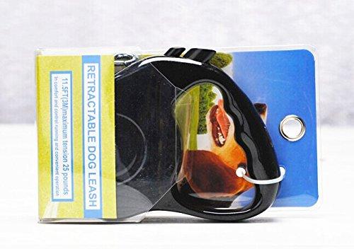 Yueton Retractable Pet Dog Leash with Push Button Lock & Release Knob (Black, S) Blovess