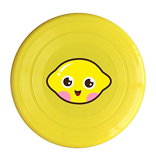LINNA Unisex Cute Kawaii Lemon Outdoor Game, Sport, Flying Discs,Game Room, Light Up Flying, Sport Disc ,Flyer Frisbee,Ultra Star Yellow One Size