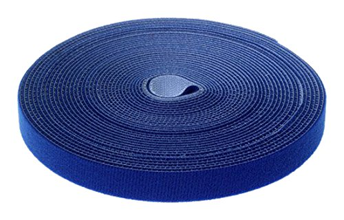 Tidy Roll Tape Strip Cable Management Wire Organizer KXB5013 blue Resuable and cuttable Fastening Wraps Straps HIMRY 10M x 15mm Cable Tie Roll Cords Ties Tidy Wrap Tape