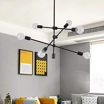 Amazon.com: Knxax Lámpara de techo moderna, lámpara colgante ...