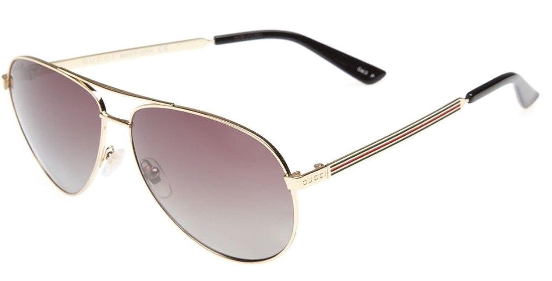 03911ac96 Amazon.com: GUCCI Aviator Sunglasses Metal Gold Polarized 61mm 0237 2281:  Clothing