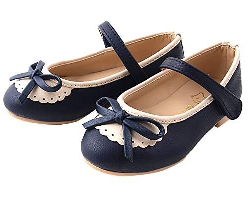 Milky Walk Frill & Ribbon Girl's Mary Jane Party Dress Shoes (Toddler/Little Kid) (13 M US Little Kid, Navy)