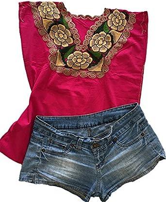 Blusa mexicana bordada hecha a mano, ropa mexicana original ...