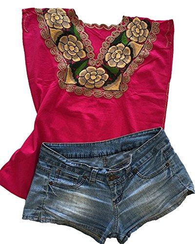 Blusa mexicana bordada hecha a mano, ropa mexicana original, ropa bordada a mano