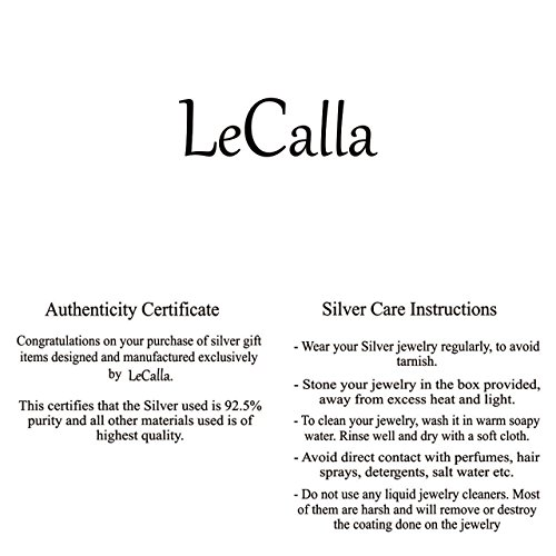 LeCalla Sterling Silver Jewelry Italian Design Bali Style Love Knot Ring Hoop Earrings for Kids and Girls by LeCalla (Image #6)