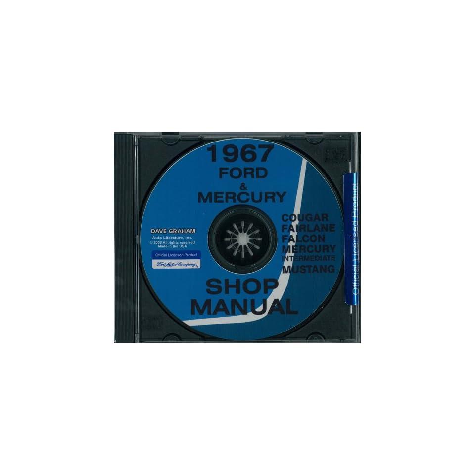1967 FORD FAIRLANE FALCON MUSTANG RANCHERO MERCURY Shop Service Manual Book CD