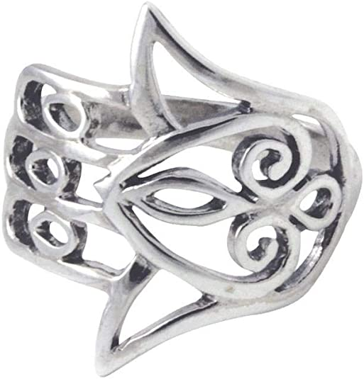 Long Abalone Filigree Cutout Ring New .925 Sterling Silver Band Sizes 5-12