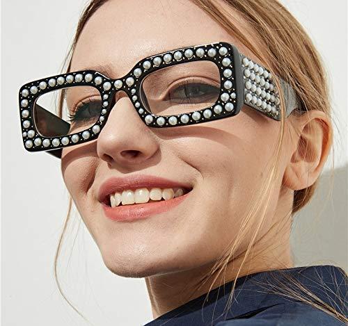 Lunettes De 1 Femmes Dégradé Mode De Carré Américaines Soleil Soleil Perle Léopard Noir De Et Lunettes Européennes Nouvelle Mode WANGKEAI HTgqw01