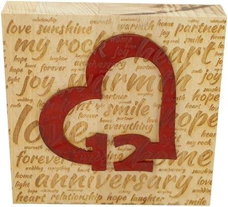 12 Anniversario Matrimonio.Blocco In Legno Di Faggio Per Il 12 Anniversario Di Matrimonio