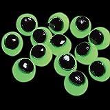 Fun Express Vinyl Glow-in-the-Dark Sticky Eyeballs (Pack of 4 Dozen)