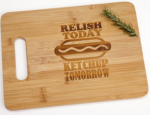 relish-today-ketchup-tomorrow-engraved-bamboo-wood-cutting-board-with-handle-funny-procrastinator-fe