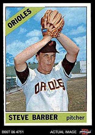 d5b7c9abc 1966 Topps   477 Steve Barber Baltimore Orioles (Baseball Card) Dean s  Cards 5 -