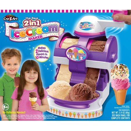 2-in-1 Real Ice Cream Maker, Make real ice cream and frozen desserts