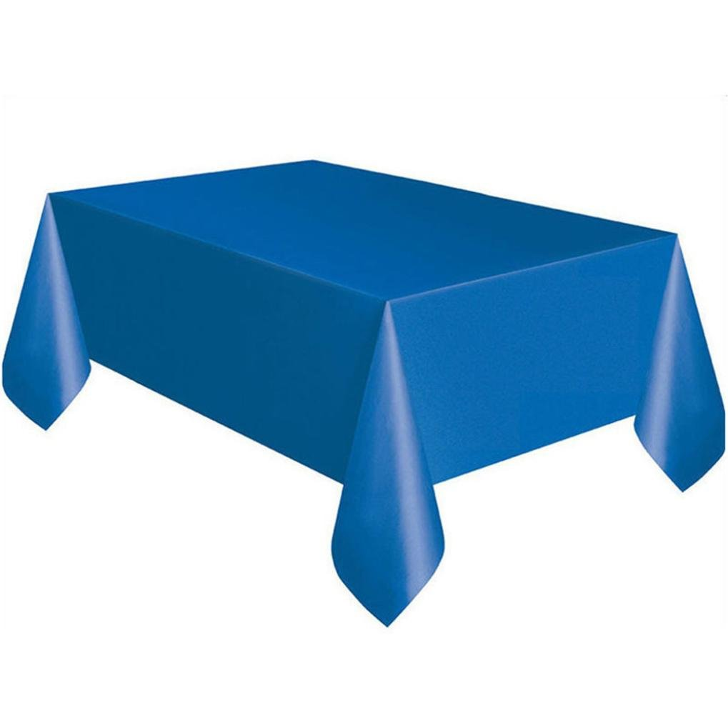 Coohole Disposable Plastic Tablecloth,6ft x 4.5ft Rectangle Table Cover (Blue)