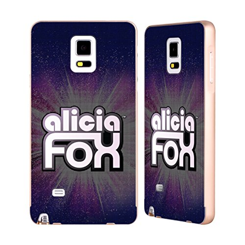 Official WWE LED Logotype Alicia Fox Gold Aluminum Bumper Slider Case for Samsung Galaxy Note - Alicia Gold