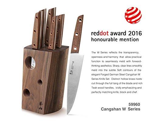 Cangshan W Series 59960 6 Piece German Steel Knife Block Set, Walnut by Cangshan (Image #2)'