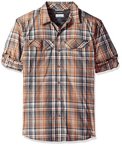 Columbia Mens Silver Ridge Plaid Long Sleeve Shirt, X-Large, Bright Copper Plaid