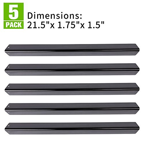 "XHome 21.5"" Flavorizer Bar, Porcelain Steel Grill Heat Plate Replacement for Weber Spirit 200 Series (with side-mounted control panel), Genesis Silver A  and Other Models (21.5'' x 1.75''x 1.5'',5 Pack) by XHome"