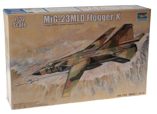 Trumpeter 1/32 MiG23MLD Flogger K Soviet Fighter Model - Fighter Kit Soviet