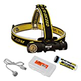 ArmyTek Wizard Pro v3 2300 Lumen Magnetic USB Rechargeable LED Headlamp and BONUS LumenTac Battery Organizer