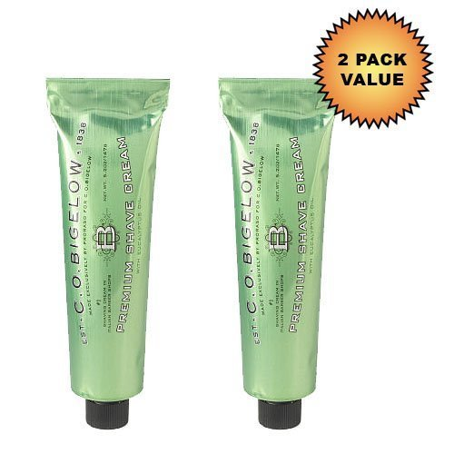 CO Bigelow Menthol Shave Cream with Eucalyptus Oil, 5.2 Ounce, (Pack of 2) - Bigelow Shaving Cream