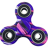 (US) FIDGET DICE Hand Fidget Toy Spinners Stress Reducer with Ceramic Bearing (Purple)