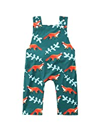 Cute Baby Boy Girl Animal Fox Jumpsuit Romper Overalls Pants Outfits